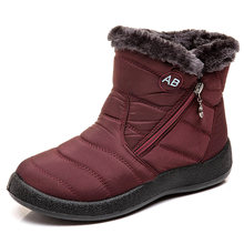 Frauen Stiefel Super Warm Schnee Stiefel Für Winter Schuhe Frauen Casual Ankle Botas Mujer Wasserdichte Winter Stiefel Weibliche Booties(China)