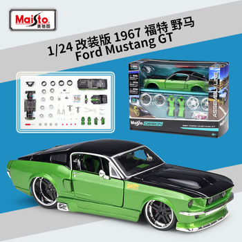 Maisto 1:24 Modified version 1967 Ford Mustang GT simulation alloy car assembly model toy collection gift 1 18 ford mustang gt car diecast car model for gifts collection hobby