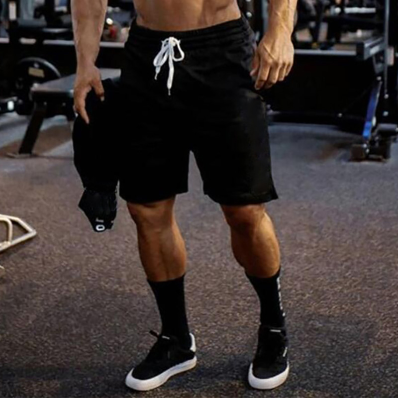 Summer Mesh Gym Shorts Men Fitness Bodybuilding Breathable Quick Drying Short Pants Men Casual Workout Joggers Shorts
