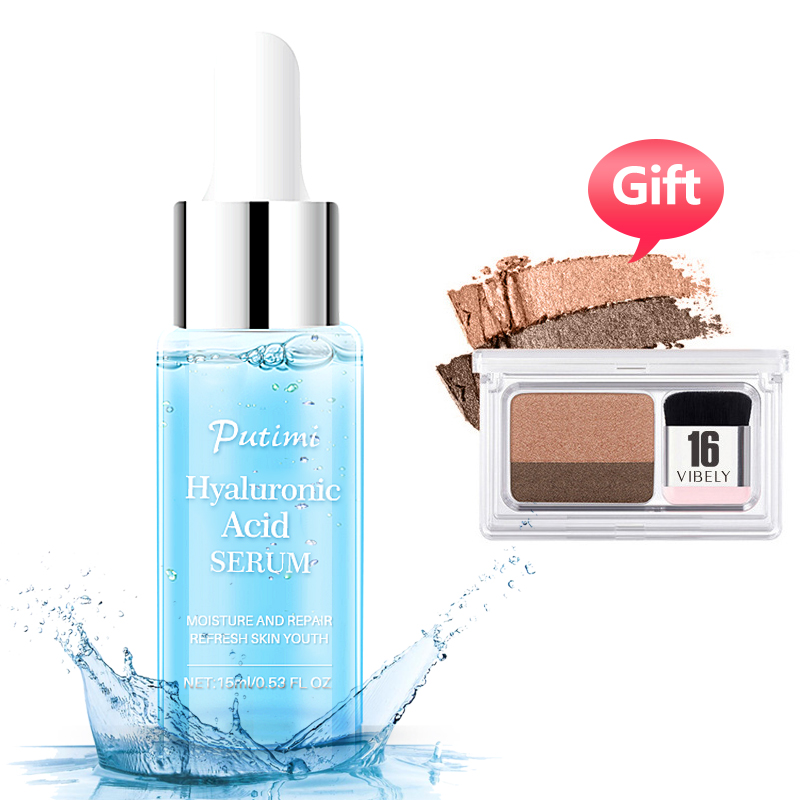 PUTIMI Hyaluronic Acid Serum Face Whitening Essence Shrink Pores Anti Aging Cream for Care 1Pcs