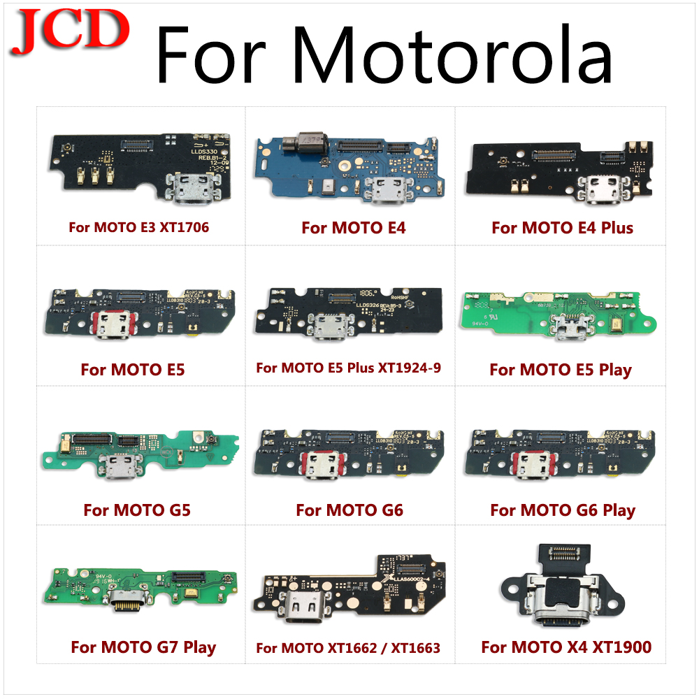 JCD For Moto M Charging Port Connector Board Parts Flex Cable With Microphone Mic For Motorola E3 E4 E4 Plus E5 E5 Plus G6 Play