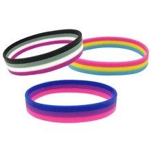 1 шт., радужные браслеты из силиконовой резины для геев и лесбиянок