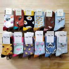 Fashion Hip Hop Cartoon Men happy Socks animal Fruit Personality Skateboard Harajuku Socks Casual Colorful Crew Socks women s japanese cotton crew socks rainbow fox bear cartoon animal trend personality skateboard socks funn y cute happy socks