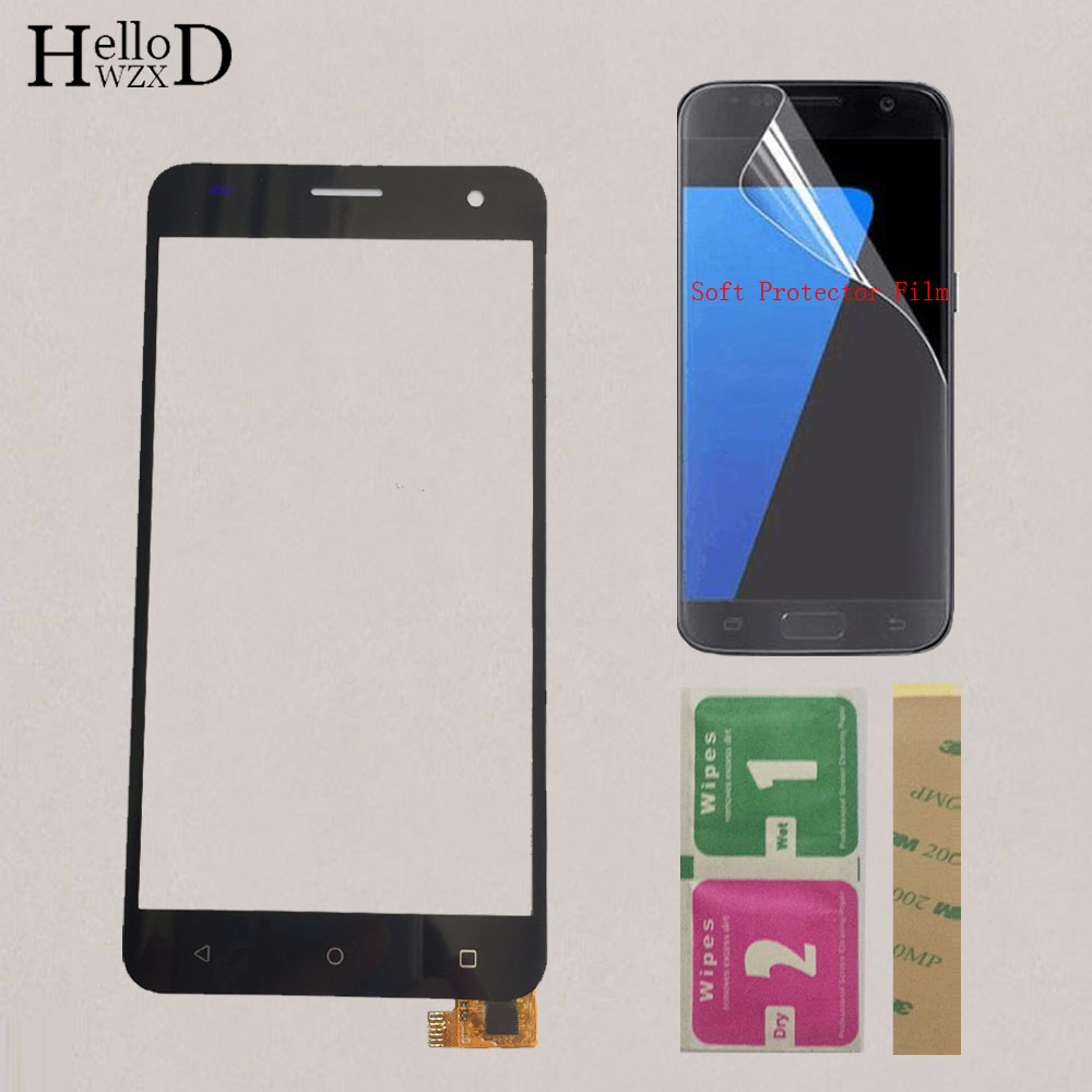 5.0'' Mobile Touch Screen For Fly FS504 FS 504 Cirrus 2 Touch Screen Glass Digitizer Sensor Panel Protector Film