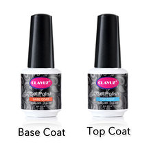 CLAVUZ 8ml Multi-uso Top Coat Base 2 PCS/KIT camada de Base Top Coat Laca Sorte Semi permanente Soak Off Carimbo Esmalte Cartilha(China)