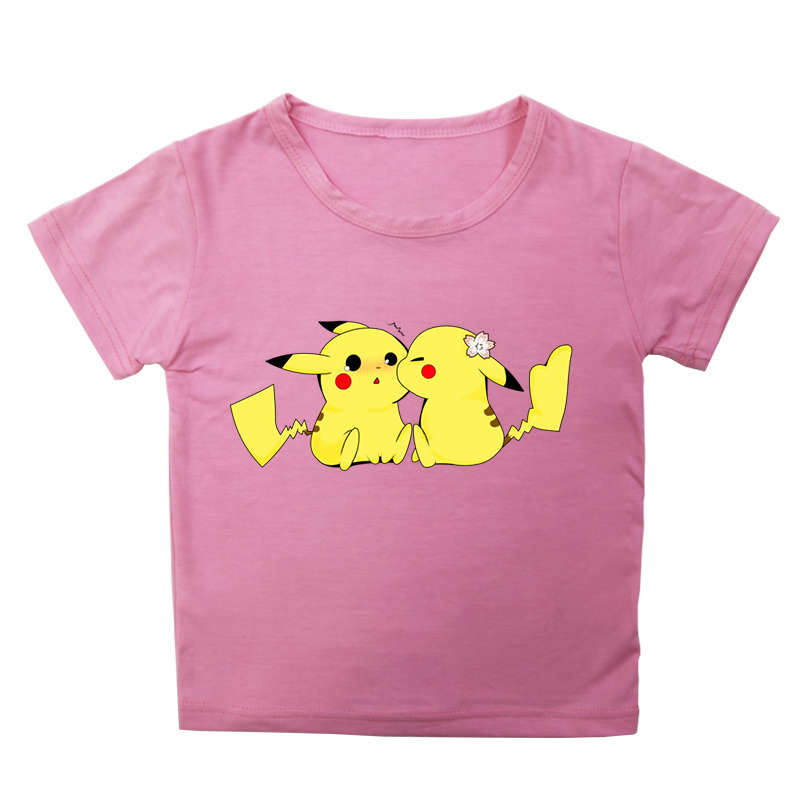 Pokemon Cotton T-shirt Kids Boys Girls Unisex Short Sleeve Tops T Shirts Children TShirts Summer Funny Casual Tee Shirts 2019 image