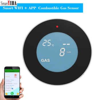 SmartYIBA APP control WiFi Wireless Gas Detector Alarm Sensor Gas Leakage Sensor Natural gas leak detector - Category 🛒 Security & Protection