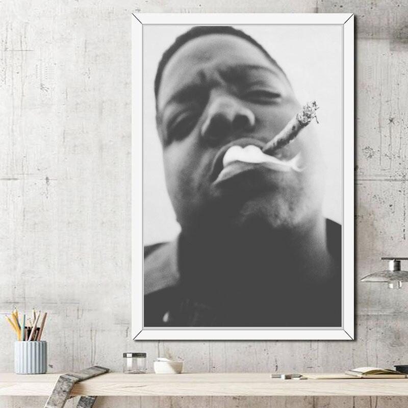 主图_P300_The_Notorious_B_I_G_Biggie_Smalls_Hip_Hop_Gangsta_Rap_Smoke_Cigarettes_Art_Painting