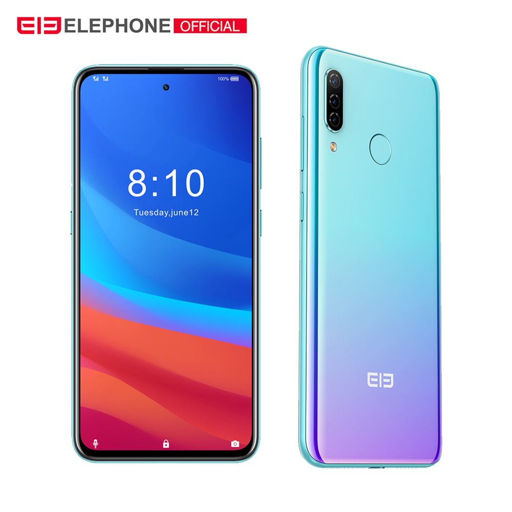 "ELEPHONE A7H Helio P23 4GB RAM 64GB ROM 6.4"" Octa Core Android 9.0 3900mAh Fast Charging Fingerprint Recognition Smartphone"