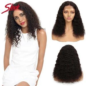 Sleek Lockiges Menschliches Haar Perücke 100% Remy Brasilianische Haar Perücken 18 Inch Reale Menschenhaar Spitze Perücken U Teil Natürliche farbe Lockige Perücken