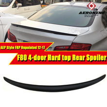 F80 M3 Spoiler FRP Unpainted AEP Style Tail Wing For BMW 3-Series 325i 328i 330i 4-Door Hard Top Black 2012-2017