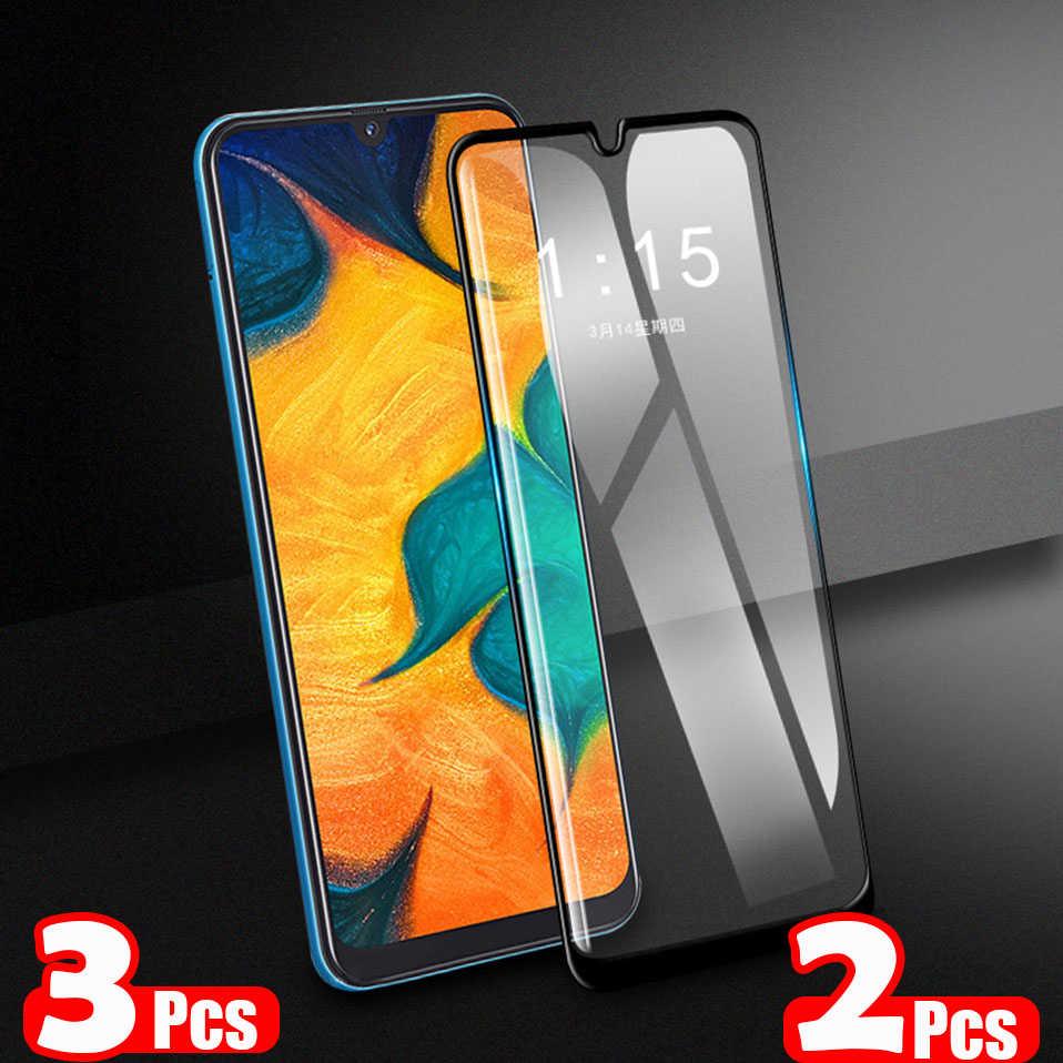 2 3 stück 15D Schutz Gehärtetem Glas Für Samsung Galaxy A10 A20 A30 A40 A20E A50 A70 M20 A60 M10 full Screen Protector Film