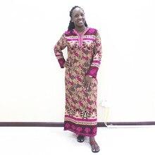 Dashikiage סתיו שבטי הדפסת מקושקש פירוט שמלת נשים בוהמי V צוואר פאייטים Applique שמלות
