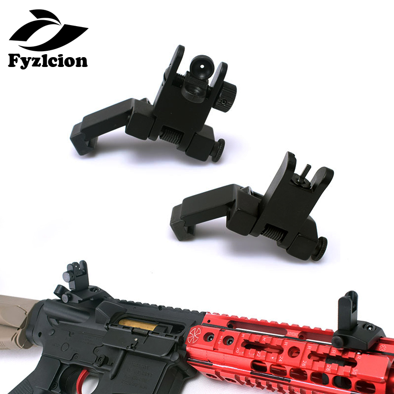 Gun Accessories Folding AR15 AR-15 AR 15 45 Degree Front And Rear Sight Flip Up Rapid Transition Backup Iron Sight