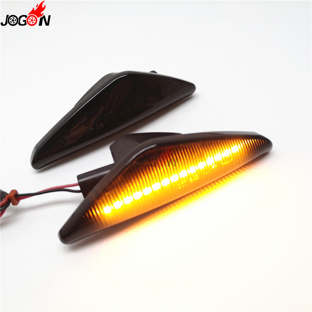 2pc LED Sequential Turn Signal Fender Marker Lights For BMW X3 F25 X5 E70 X6 E71 E72 2008-2014 3