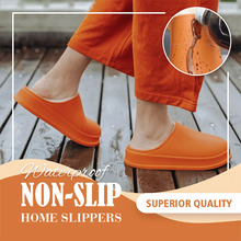Waterproof Non-Slip Home Slippers Winter Warm Home Women Indoor Cotton Non-slips Ladies Soft Slippers Memory Foam Couples Shoes