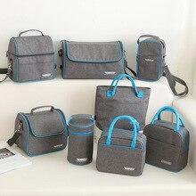 Термальность изоляции Cooler Обед сумка для пикника Bento Box свежие льдом Еда фрукты контейнер для хранения аксессуаров питания вещи