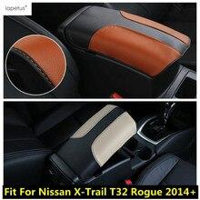 Lapetus Zubehör Fit Für Nissan X-Trail X Trail T32 Rogue 2014-2020 Armlehne Lagerung Box Schutz Molding abdeckung Kit Trim