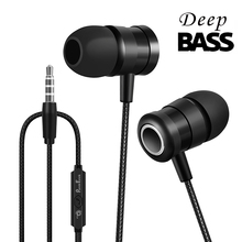 PunnkFunnk Wired Earphone In-Ear Headphones 1.2M  Deep Bass Stereo Hifi Earbuds W/Mic For Mobile&PC
