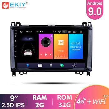 EKIY 9'' 2.5D IPS Android 9.0 Car Radio for Mercedes Benz B W245 B150/Sprinter 211 CDI 309/ A Class W169 A150 Stereo Multimedia image