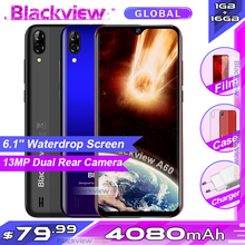 Blackview A60 Smartphone 4080mAh battery 19:9 6.1 inch dual Camera 1GB RAM 16GB ROM Mobile phone 13MP+5MP camera