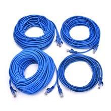 5m/10m/20m/30m CAT5e RJ45 câbles Ethernet 8Pin connecteur Ethernet réseau Internet câble cordon ligne de fil bleu Rj 45 Lan CAT5e