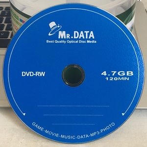 Wholesale 50 discs Mr Data Grade A 4.7 GB Blank Printed DVD RW Disc