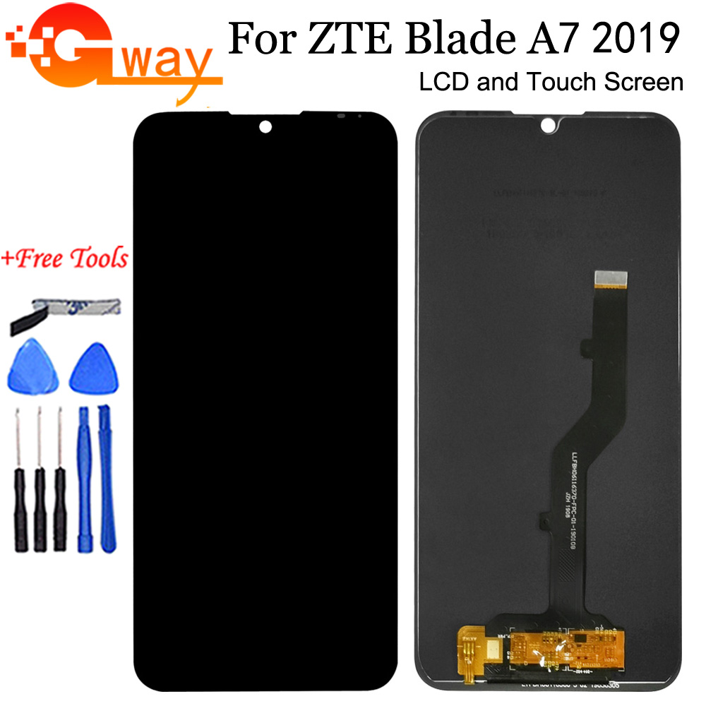Black 6.09 inch For ZTE Blade A7 2019 P963F02 LCD Display And Touch Screen Digitizer Sensor Assembly With Tools For ZTE A7 LCD(China)