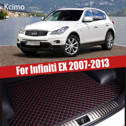 for Infiniti EX J50 2007 ~ 2013 Leather Car Trunk Mat Nissan Skyline Crossover Cargo Liner Boot Pad Auto Accessories Decoration