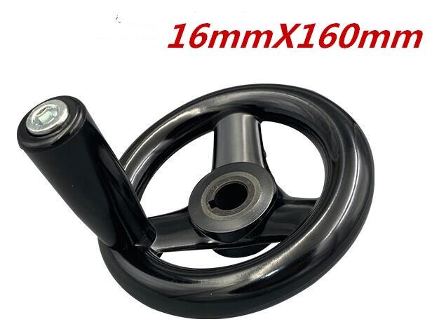 1 шт. черный фрезерный станок с ЧПУ Токарный станок с ЧПУ для 3D-принтеры со спицами маховик волнистые круглый бакелит три штурвал задвижки 100/125/160/200/250 мм - Цвет: 16mmX160mm