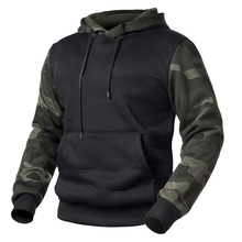 New Camouflage Hoodies Men Military Tactical Pullover Patchwork Autumn Male Casual Hooded Sweatshirts Fleece Loose Camo Clothing