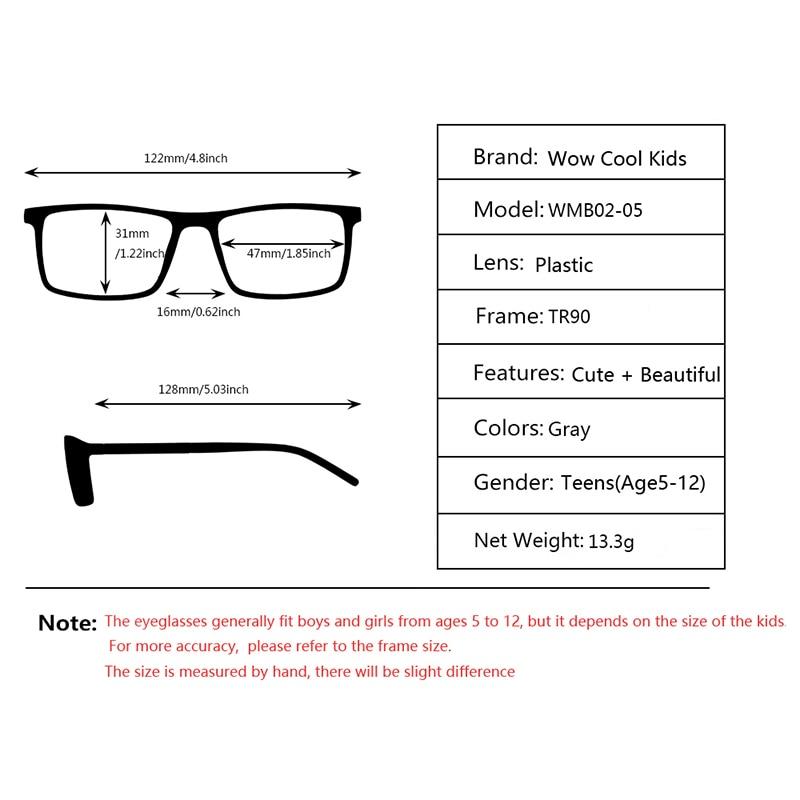 Image 5 - Kirka Kids Glasses TR90 Flexible Eyeglass Frames Children Optical Frame Kids Grey Children Glasses For 6 10 Years OldMens Eyewear Frames   -