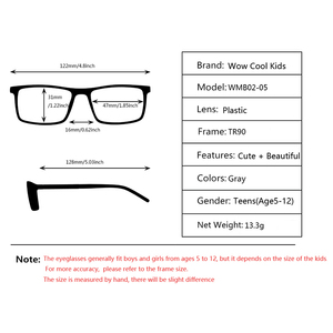 Image 5 - Kirka Kinder Gläser TR90 Flexible Brillen Rahmen Kinder Optischen Rahmen Kinder Grau Kinder Gläser Für 6 10 Jahre Alt