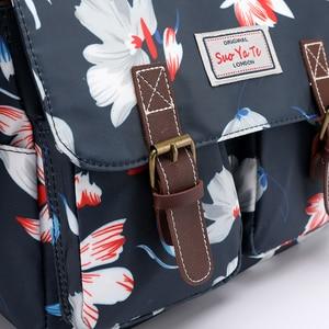 Image 5 - Frauen Handtaschen Weibliche Blume Gedruckt Schulter taschen Wasserdichte Nylon Messenger Taschen Damen Umhängetasche Retro Bolsas