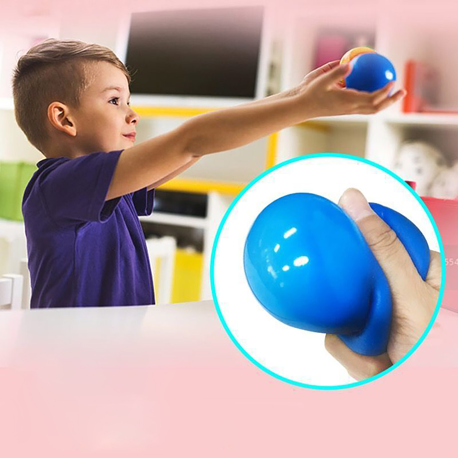 Fun Toy Fidget-Toys Decompression-Toys Wall-Ball Gift Sticky Adult Luminous Kids 70MM img2
