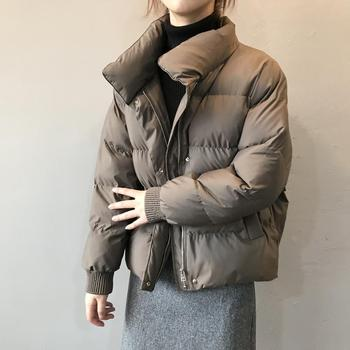 2020 Winter Jacket Women Streetwear Polyester Zipper Padded Coat Korean Style Mujer Parkas Autumn Jaqueta Feminina 1