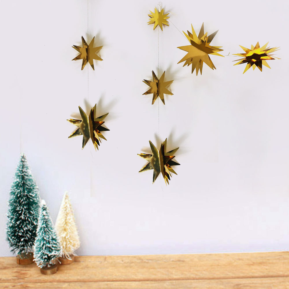 Lychee DIY Star Garland Flag Banner Party Banner Flags Birthday Festival Decoration Accessories