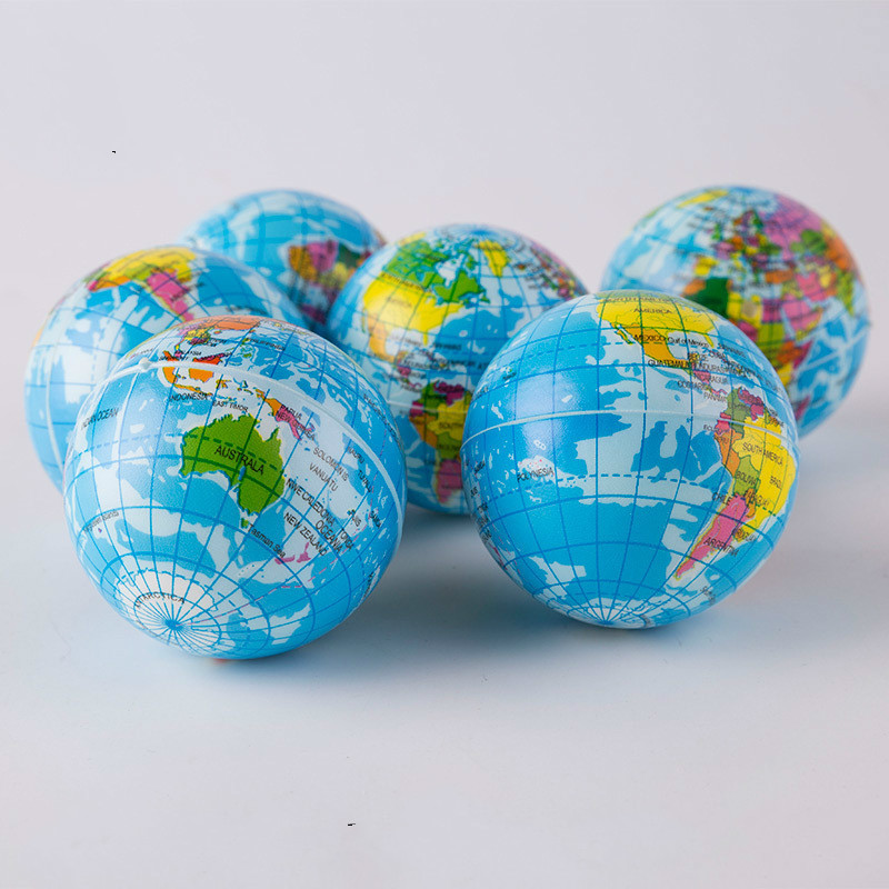 Creative World Map Foam Ball Planet Earth Squishy Toy Slow Rising Soft Stress Relief Antistress Novelty Gag Toy Funny Gift Decor