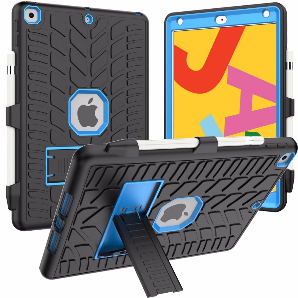 8th 10.2 with Case Pencil Generation Holder Tire 2020 Shockproof Hard Pattern For iPad