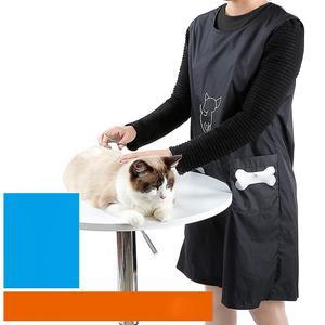 Impermeable perro mascota Groomer delantal sin mangas delantal ropa de trabajo delantal bata mascota Groomer suministros de limpieza