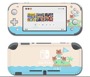 Image 1 - Vinil ekran cilt koruyucu çıkartmalar Nintendo anahtarı için lite konsolu hayvan geçişi Skins