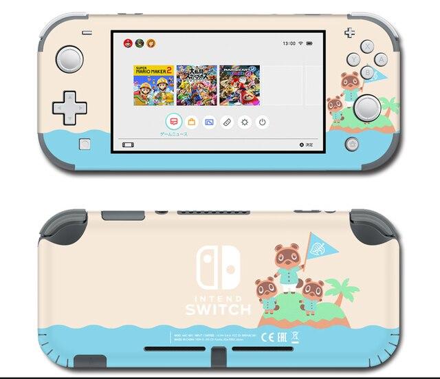 Vinil ekran cilt koruyucu çıkartmalar Nintendo anahtarı için lite konsolu hayvan geçişi Skins