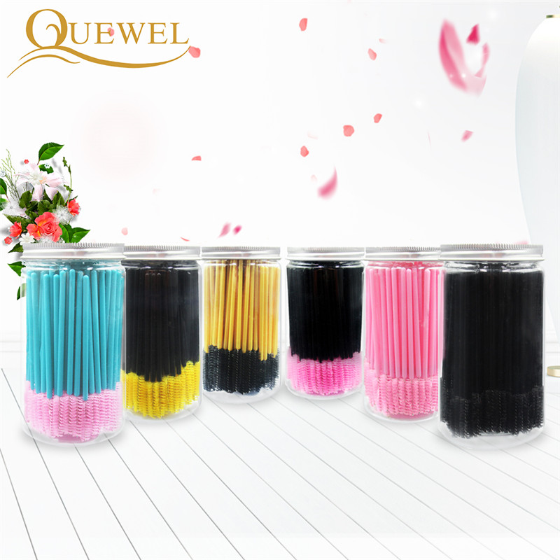 Eyelash Brush Disposable Comb Mascara Wands Eye Lashes Extension Applicator Lot Famale Eye Lashes Cosmetic Brush Makeup Tools