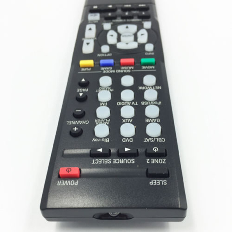 Black Remote Control for Denon RC-1189, RC-1196, RC-1193, <font><b>AVR</b></font>-S700W AV <font><b>Receiver</b></font> Durable and practical Replacement Remote Control image