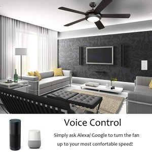 Image 5 - Smart Fan Switch In Wall Speed Control Wifi Enabled Variable Ceiling Touch Glass Panel Remote by Alexa Google Home Assistant