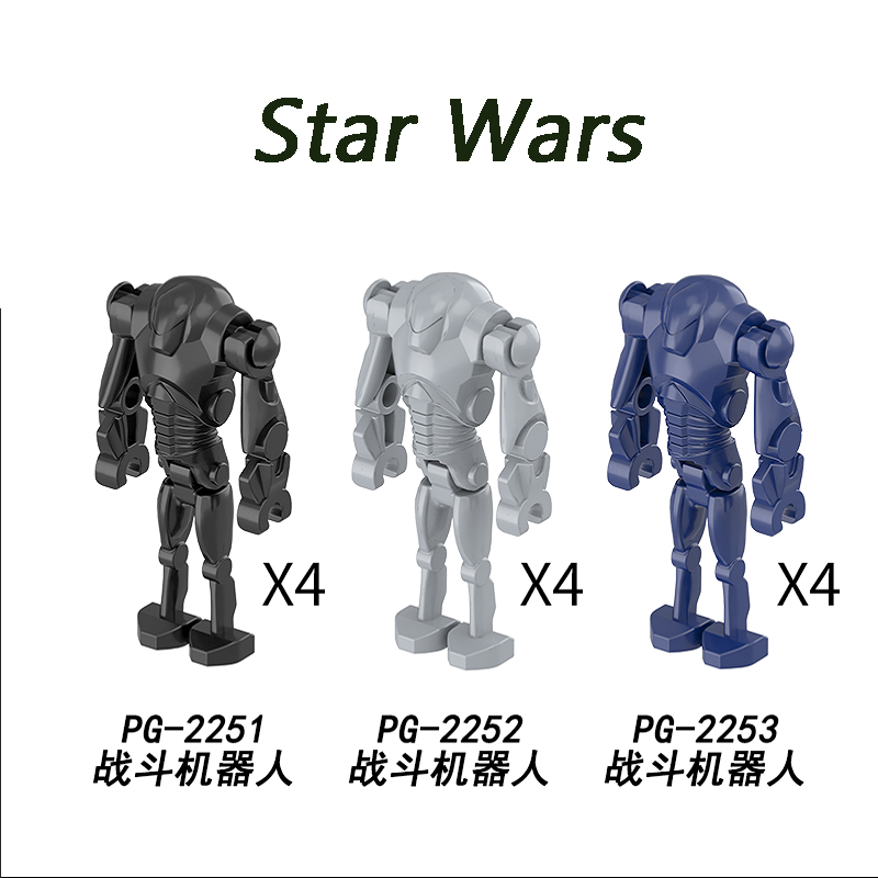 Star Wars Yoda baby General Combat Robot Grievous With Lightsaber Droid Model Building Blocks Action Figures Toys For Children image