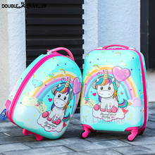 Luggage Trolley Case Travel-Suitcase Carry-Ons Girls Kids Boys Cartoon Spinner Cute