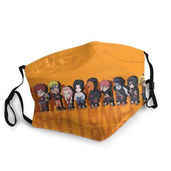 Mascarilla con varios diseños estamapdos de Naruto Shippuden Mascarillas de Anime Mascarillas de Naruto Merchandising de Naruto