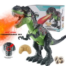 Дистанционное управление динозавр тираннозавр животные звук Dinobot электрические ходячие Животные Игрушка музыкальный светильник-спрей игрушки Рождественский подарок