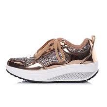 Newest Shining Swing Shoes Sneaker Women Lace-up Damping Sports Aerobic